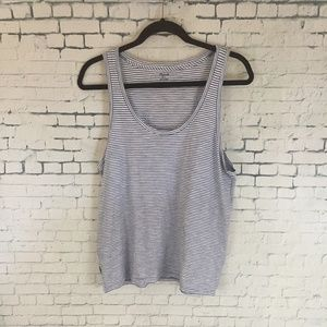Madewell SIze Large Striped Tank Top